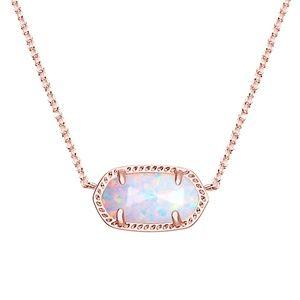 Kendra Scott White Kyocera Opal Elisa Necklace